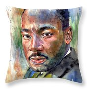 Martin Luther King Jr. Painting Throw Pillow