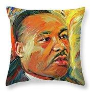 Martin Luther King Portrait 1 Throw Pillow