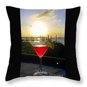 Martini At Sunset II Throw Pillow