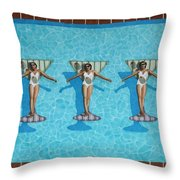 Martini Girls Throw Pillow