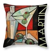 Martini Poster Throw Pillow