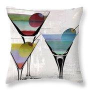 Martini Prism Throw Pillow