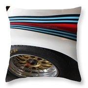 Martini Racing Lines Throw Pillow