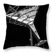 Martini Sign B-w Throw Pillow