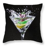 Martini Splash Throw Pillow