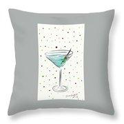 Martini Time  Throw Pillow