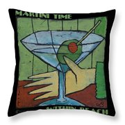 Martini Time - Within Reach Throw Pillow