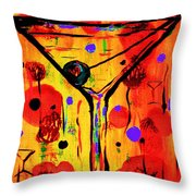Martini Twentyfive Of Sidzart Pop Art Collection Throw Pillow
