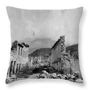 Martinique: Ruins Throw Pillow