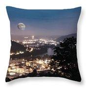 Martins Ferry Night Throw Pillow