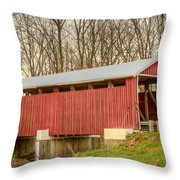 Martinsville Covered Bridge Throw Pillow