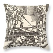 Martyrdom Of Saint Lawrence Throw Pillow