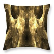 Marucii 168-03-13 Gold Mask Throw Pillow