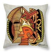 Maruvian Masks 1 Throw Pillow