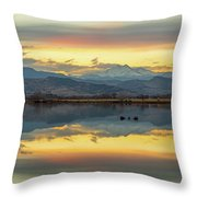 Marvelous Mccall Lake Reflections Throw Pillow