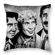 Marx Bros Throw Pillow