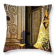 Mary And Baby Jesus In Palermo Throw Pillow