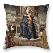 Mary And Baby Jesus Throw Pillow