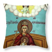 Mary And Jesus In Hebron Throw Pillow