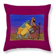Mary And Joseph  Throw Pillow
