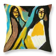 Mary And Josephine Throw Pillow