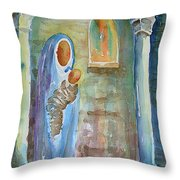 Mary And The Child Throw Pillow