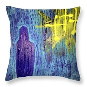 Mary And The Crosses Throw Pillow
