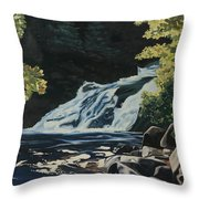 Mary Ann Falls On The Cabot Trail Throw Pillow