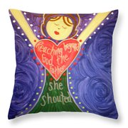Mary Daly Throw Pillow