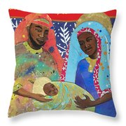 Mary Habe Boy Chile Throw Pillow