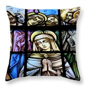 Mary In The Middle Throw Pillow