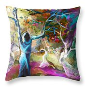 Mary Magdalene And Her Disciples Throw Pillow