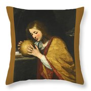 Mary Magdalene In Meditation  Throw Pillow