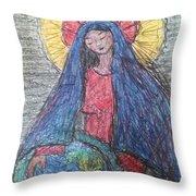 Mary, Queen Of Heaven, Queen Of Earth Throw Pillow