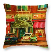 Mary Seltzer Dress Shop Throw Pillow
