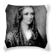 Mary Shelley, English Author Throw Pillow