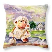Mary The Scottish Sheep Throw Pillow