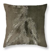 Mary Through The Looking Glass Throw Pillow