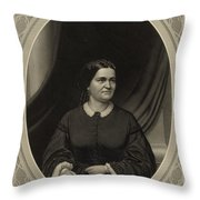 Mary Todd Lincoln, First Lady Throw Pillow