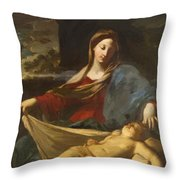 Mary With Child 1635 Throw Pillow