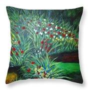 Maryann's Garden 3 Throw Pillow