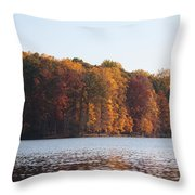 Maryland Autumns - Clopper Lake - Fall Bloom Throw Pillow