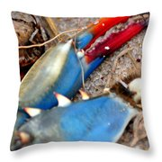 Maryland Blue Claw Throw Pillow