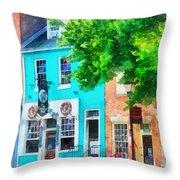 Maryland - Neighborhood Pub Fells Point Md Throw Pillow