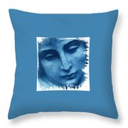Marys Blues Throw Pillow