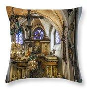Mary's Church Throw Pillow