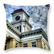 Maryville Tennessee Courthouse 3 Throw Pillow