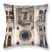 Marzaria Clocktower Reflection Throw Pillow