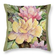 Ma's Roses 1 Throw Pillow