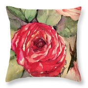 Ma's Roses 3 Throw Pillow